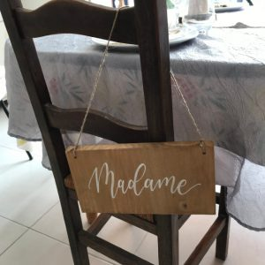 Panneaux chaises madame-monsieur