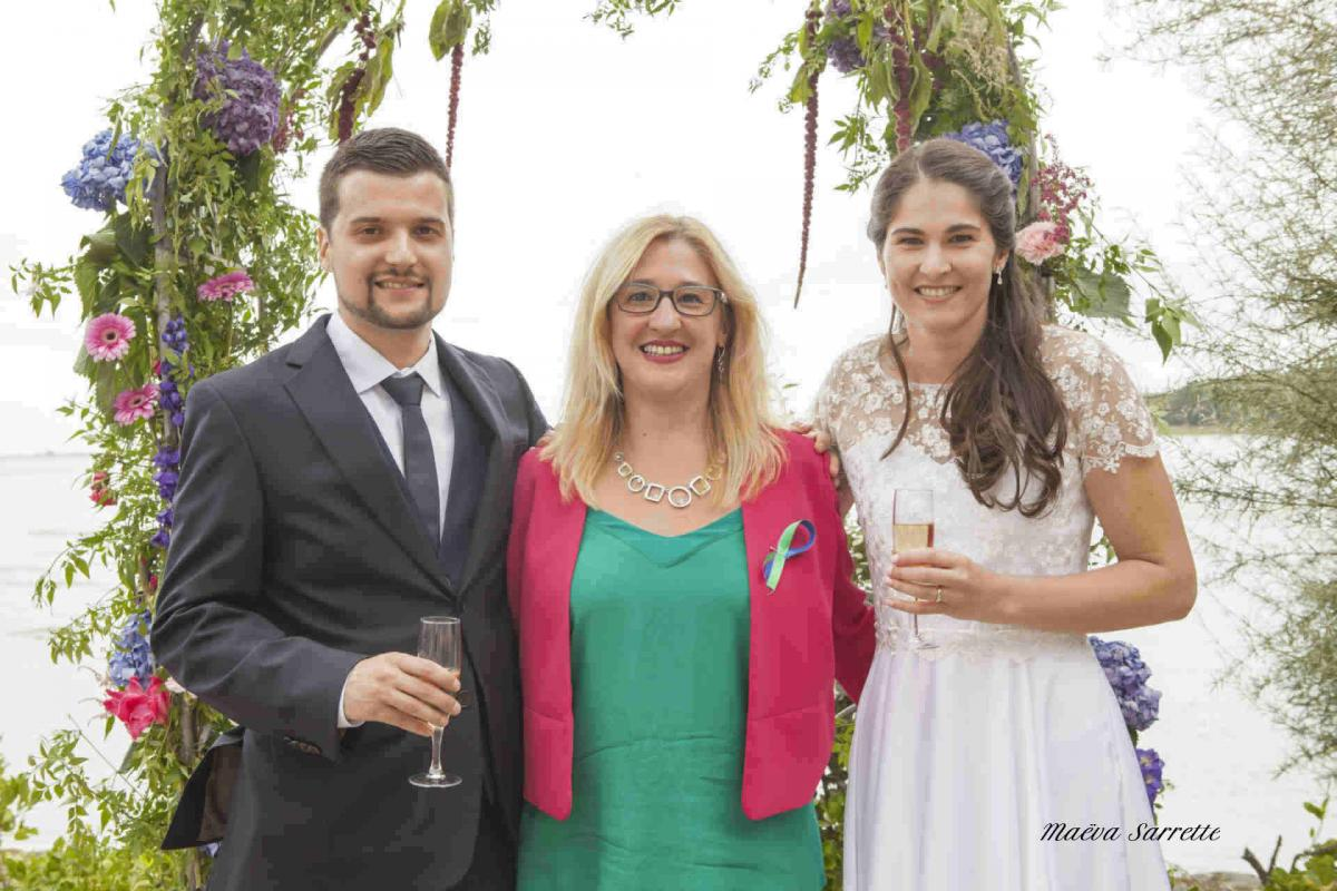 The newlyweds and the officiant-WP